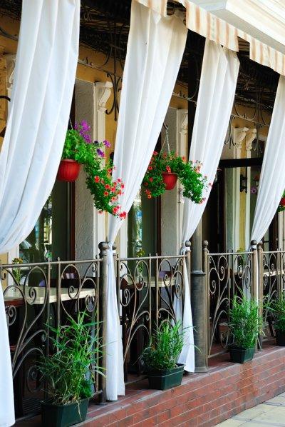 Create Outdoor restaurant dining area