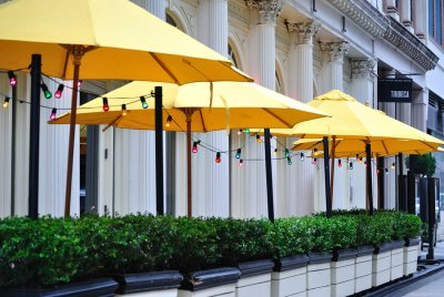 Benefits of adding umbrellas to outdoor area